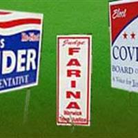 Political Lawn Signs